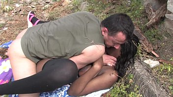 Bigtits Black Slut With Big Ass Outdoor Pussy Fucking