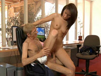 Brunette Fucked And Fucked By The Old Boss