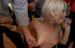Cumshot From 3 Dicks With Cum And Blow Jobs For A Mature Woman