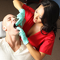 The Nurse-Pervert Suck A Patient Off The Chair By A Dentist