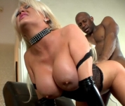 Dick Big Black Deep In Her Tight Ass By A Blonde Horny