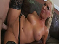 Breasted Blonde Sucks A Meaty Dick
