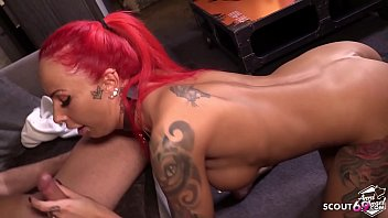 Gorgeous Redhead Fucks Hard With A Gifted Man From Brazil
