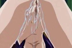 बड़े स्तन के साथ फूहड़ और बैंगनी रंग के बालों बिल्ली पाला