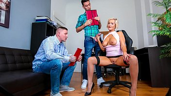 At Job For A Lady Ex-Whore Fucks For Free With The Employees