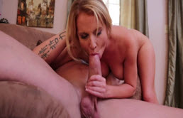 Mature Huge Dick Rips Her Pussy