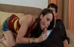 Wife Young Is Fuck With Lover, A Plumber, Even In A King-Size Bed