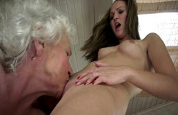 The Old Woman A Lesbian Is Licked In Her Wet Pussy