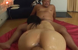Dirty Japanese With Hairy Pussy Gets A Big Cock
