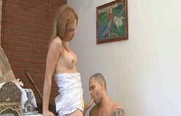 Big Tits Shemale Fucks Gay Husband Behind Priest