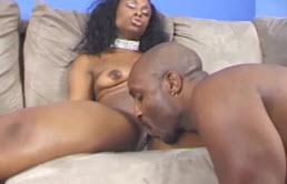 Ebony Babe Gets Fucked Hard By A Black Guy