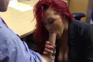 Redhead With Big Tits Takes A Massive Dick In Her Wet Pussy
