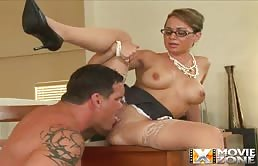 Teacher With Big Tits Doing Blowjob And Gets Fucked