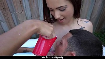 Hot & Horny College Teen Sluts Fucked In Gang-Bang Orgy At Party 13