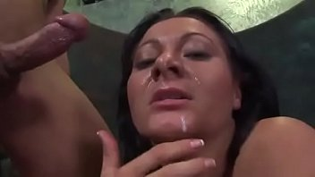 Sandra Romain Drains A Cock All Over Her Chin
