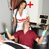 Nurse Brunette Pounded Anal By A Patient Horny