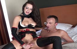 Brunette Making Blowjob And Will Ride Your Slave