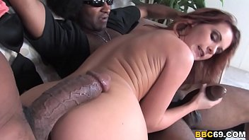 Girl Beauty Gets In Between Two Black Guys And Asks Them To Fuck Her
