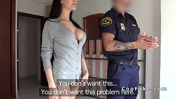 Having Sex With A Cop, What The Fuck You In His Office, A Dark-Haired Girl With Big Tits