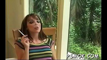 Naked Slutty Doxy Provokes While Enjoying Cigarette