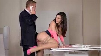 The Hottest Brunette Gets Fucked By The Boss In The Office