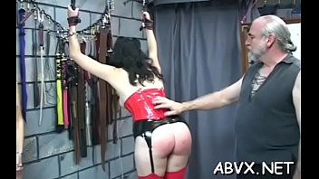 Rough Scenes Of Home Bondage With Naked Playgirl With Shaved Muff