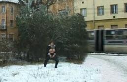 Mature Slut Pee In The Snow