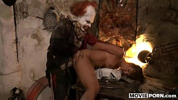 Porn Video Gypsy Woman Abused By A Clown Who Put His Dick In Her Mouth