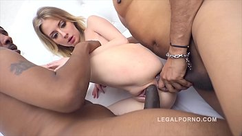 Some In The Cunt And Ass After Getting Fucked Hard By Two Black Guys