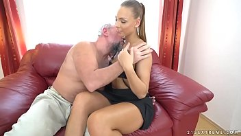 Milfa Teen Gets Fucked By Her Boyfriend's Old Man