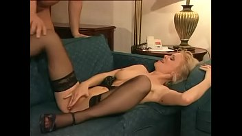 Blonde With Small Tits And Hairy Fucked Pussy And Anal