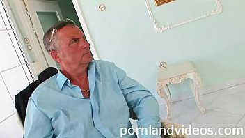 Daddy Watching Like Horny Teen With Big Boobs Fucked In Anal Threesome