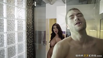 Latina With Big Tits August Taylor Fucks In The Shower