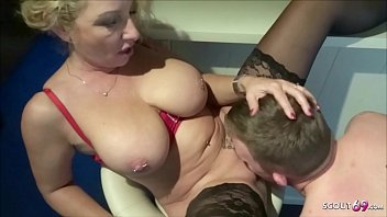The Mother At 50 Fucks Her Son With An Erection