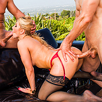 Anal Sex With A Blonde And Two Men