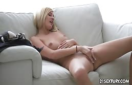 - Exchange Student-Blonde Masturbates Deep