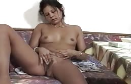 Milfa Brunette Masturbating In The Kitchen