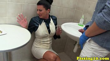 Women's Naughty-Naughty-Naughty Getting Fucked In A Public Toilet?