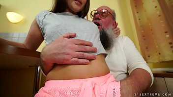 Fuck Horny That She Fucks With An Old Man