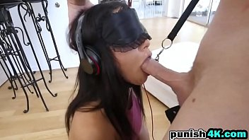 I Don't Want To See His Cock, But She Wants To Feel It In Her Mouth And In Her Wet Pussy