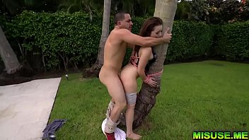 He Tied Her To A Palm Tree And Strip It Off Her So He Can Fuck You In The Ass