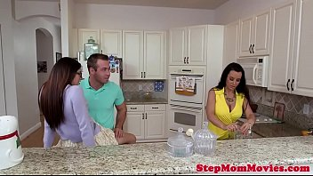 Hugetitted Stepmom Spoiling Younger Couple