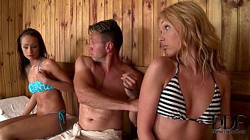 Lina Napoli & Sophie Lynx In A Hot Sauna Hardcore Threesome