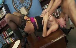 Brunette In Sexy Lingerie Fucked By Keiran Lee In The Office