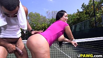 Sex With A Dark-Haired Girl Fucked On The Tennis Court Xxx