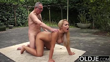 The Girl Also Sucks A Dick And Gets Fucked In The Ass By An Old Man
