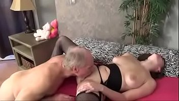 Brunette Is Fucked By Her Grandpa With Hard Dick