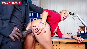 Mature Lana Vegas-Having Sex In The Office With Her Lover's Black