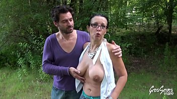 Mature Woman Having Sex In The Woods For Money With Horny Young Man