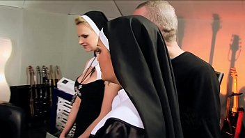 Sex Party With Two Nuns Who Fuck And Have A Sexual Orgy With A Catholic